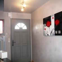 Cage escalier et hall d entr e - Peinture boiserie porte ...