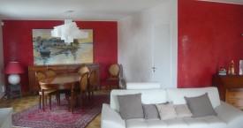 Salle salon réalisés en enduit décoratif naturel